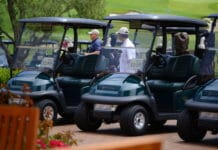 How does golf cart battery watering system work?